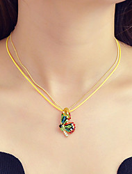 cheap -Women's Pendant Necklace Fancy Butterfly Dainty Sweet Fashion Chrome Imitation Diamond Gold 40 cm Necklace Jewelry 1pc For Gift Work Festival