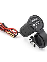 Недорогие -водонепроницаемый мотоцикл цифровой светодиодный дисплей вольтметр