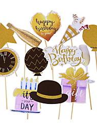 abordables -Décorations de vacances Nouvel An Objets décoratifs Décorative Rose 12 pcs