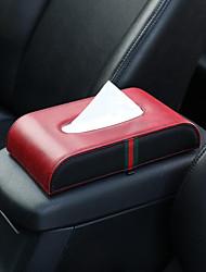 cheap -Car Microfiber Leather Handrest Tissue Box Napkin Pumping Paper Portable Office Paper Holder Case