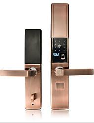 cheap -Damping slider smart fingerprint lock semiconductor automatic sliding password swipe APP