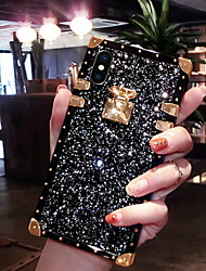 cheap -Case For Apple iPhone XS / iPhone XR / iPhone XS Max Glitter Shine Back Cover Glitter Shine Soft Silicone