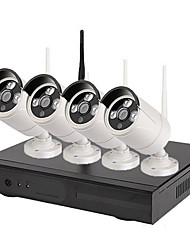 cheap -4ch 1080P H.265 CCTV Camera Security Surveillance System Wireless NVR Kit