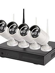 Недорогие -4-канальный 1080p h.265 видеонаблюдения системы видеонаблюдения беспроводной комплект NVR
