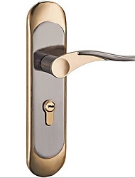 cheap -Aluminum alloy interior door lock indoor wooden door lock simple door handle handle lock