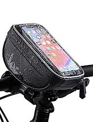 cheap -Wheel up Bike Handlebar Bag 6 inch Waterproof Cycling for Cycling Black Mountain Bike / MTB Road Bike Outdoor Exercise
