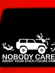 cheap -Family Nobody Cares Jeep Car Rear Glass Car Sticker