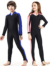 cheap -SBART Boys' Girls' Rash Guard Dive Skin Suit 1mm Diving Suit SPF50 UV Sun Protection Quick Dry Full Body Front Zip - Swimming Diving Patchwork Spring Summer Fall / Winter / Kid's