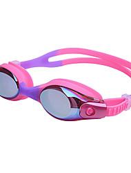 Недорогие -плавательные очки очки кейс Тренировки УФ-защита покрыло Нет утечки Удобный Для Детские Поликарбонат Поликарбонат Другое Прозрачный