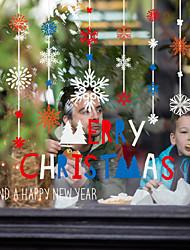 Недорогие -Оконная пленка и наклейки Украшение С цветами / Рождество Геометрический принт / Праздник ПВХ Стикер на окна