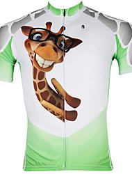 Недорогие -ILPALADINO Муж. С короткими рукавами Велокофты Белый  / зеленый Велоспорт Джерси Верхняя часть Дышащий Быстровысыхающий Ультрафиолетовая устойчивость Виды спорта 100% полиэстер / Шоссейные велосипеды