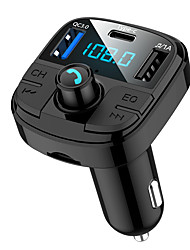 cheap -BT29 Bluetooth 5.0 Car FM Transmitter QC3.0 Car Bluetooth Adapter Wireless Bluetooth FM Radio Adapter with 5 EQ Mode 3 Charging Ports Support USB Disk TF Card Hands-Free Car Kits