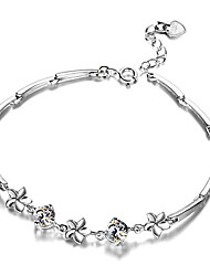 cheap -Women's Cubic Zirconia Chain Bracelet Classic Happy Stylish Gold Plated Bracelet Jewelry White For Gift Daily