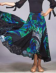 Недорогие -Бальные танцы Юбки Комбинация материалов Жен. Учебный Выступление Сетка Ice Silk (искусственное волокно)