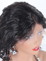 cheap -Human Hair Lace Front Wig Middle Part style Brazilian Hair Curly Black Wig 130% Density Women Women's Short Others Clytie