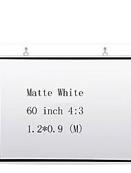 Недорогие -4:3 60 дюймовый MaxWhite Экран с креплением на стену