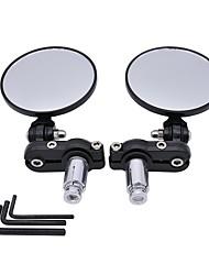 cheap -2PCS Motorcycle Circular Foldable Rear View Mirror Set Side Convex Mirror