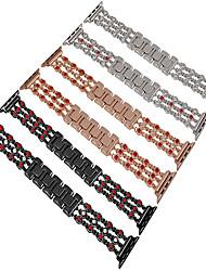 cheap -Fashion Cowboy Chain Bracelet For Apple Watch Wrist Band 44mm/40mm/42mm/38mm Rhinestone Diamond Strap Series 4 3 2 1 Metal Link