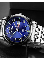 cheap -Men's Dress Watch Quartz Stainless Steel Silver Casual Watch Analog Fashion - Black White Blue