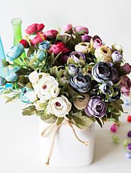 Недорогие -1 шт. Декоративный дисплей цветочный шелкография снежинка 6 вилка снежинка чай цветок украшения дома маленький букет искусственный цветок подарок спальня обои украшения украшения
