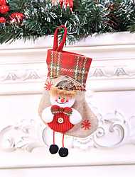 cheap -Holiday Decorations New Year's Decorative Objects Decorative Purple / Red / Silver 1pc