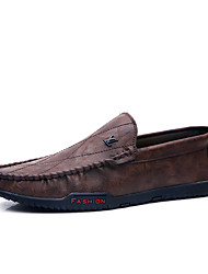 cheap -Men's Formal Shoes Microfiber Spring & Summer / Fall & Winter Business / Casual Loafers & Slip-Ons Breathable Black / Brown / Khaki