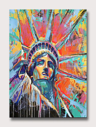cheap -Oil Painting Hand Painted - Abstract People Vintage Modern Rolled Canvas