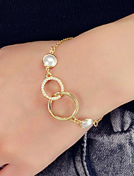 cheap -Women's Chain Bracelet Geometrical Vertical / Gold bar Unique Design Sweet Fashion Pearl Bracelet Jewelry Gold For Party Work Festival