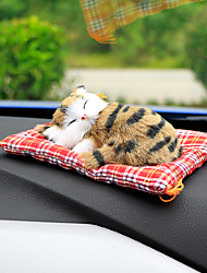 cheap -Car Ornaments Cute Simulation Sleeping Cats Decoration Automobiles Lovely Plush Kittens Doll Toy
