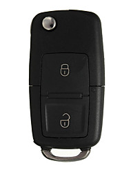 cheap -2 Button Flip Remote Key Case Car Shell With Screwdriver For VW