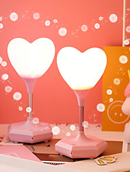 cheap -1 set Heart Shape Decoration Light / LED Night Light Warm White USB Dimmable / Adorable / Birthday Battery