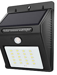 cheap -1pc 1 W Outdoor Wall Lights / Solar Wall Light Solar / Light Control / Motion Detection Monitor White 3.7 V Outdoor Lighting / Courtyard / Garden 20 LED Beads