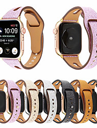 cheap -Glitter Genuine Leather Band For Apple Watch Series 5/4/3/2/1 Strap For IWatch 44mm/40mm/42mm/38mm Bracelet Wristband