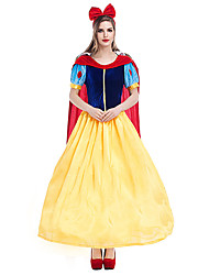 cheap -Snow White Dress Cosplay Costume Costume Adults' Women's Party / Evening Halloween Christmas Halloween Carnival Festival / Holiday Pleuche Polyster Yellow Female Carnival Costumes Holiday Halloween