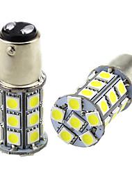 cheap -2pcs 1157 BAY15D LED Car Light Bulbs 3W 24V SMD 5050 27 LED Lamp for Turn Signal Light Fog Light Tail Light Rear Fog Light