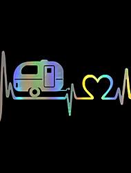 Недорогие -красочные сердцебиение поезд вагон наклейки виниловые наклейки