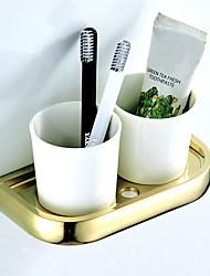 cheap -Toothbrush Holder Creative Contemporary / Modern Brass / Ceramic 1pc - Bathroom / Hotel bath Wall Mounted