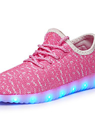 cheap -Boys' LED / LED Shoes / USB Charging Tulle Trainers / Athletic Shoes Flashing Shoes Little Kids(4-7ys) / Big Kids(7years +) Walking Shoes LED / Luminous Black / Pink / Green Fall / Rubber / EU37