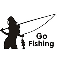 cheap -Outdoor Sports Reflective Beauty Fishing Car Sticker