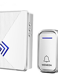 cheap -Wireless home doorbell battery DC power one for one full battery without plugging wireless waterproof doorbell
