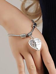 cheap -Women's Bracelet Cut Out Heart Fashion Elegant Alloy Bracelet Jewelry Silver For School Street Holiday