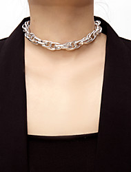 cheap -Women's Choker Necklace Necklace Elegant Romantic Fashion Aluminum Gold Silver 30 cm Necklace Jewelry 1pc For Gift Daily Carnival Holiday Festival