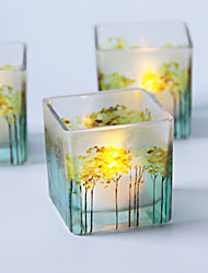 cheap -Color Printing Glass Candlestick Desktop Decoration Wedding Decoration