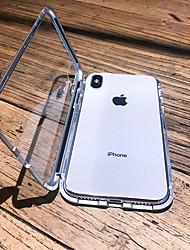 Недорогие -чехол для яблока iphone xs max / iphone x магнитный / прозрачный чехлы для тела сплошного цвета из твердого металла для iphone 6 / iphone 6 plus / iphone 6s
