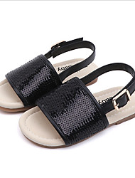 cheap -Girls' Comfort Synthetics Sandals Black / Pink / Silver Spring