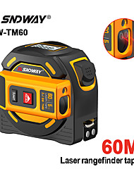 cheap -SNDWAY new Laser distance meter Tape rangefinder multi function Self-Locking Hand Tool Device SW-TM60