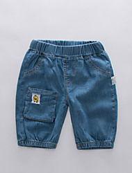 cheap -Kids Boys' Basic Street chic Patchwork Embroidered Cotton Jeans Blue