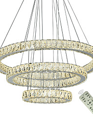 cheap -3 Rings Hanging Lights Modern Crystal Chandeliers Light LED Chandelier Ceiling Lighting Indoor Pendant Lamp Home Lamps Fixtures 110-120V 220-240V