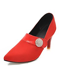 cheap -Women's Heels Suede Shoes Stiletto Heel Pointed Toe Synthetics Classic / British Fall / Spring & Summer Gray / Red / Green / Party & Evening