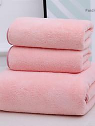 abordables -Qualité supérieure Ensemble de serviette de bain, Couleur Pleine 100% Molleton 1 pcs